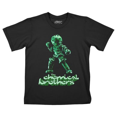 The Chemical Brothers THE GREEN GLOBULE (緑色液球体) CHILDRENS BLACK T-SHIRT