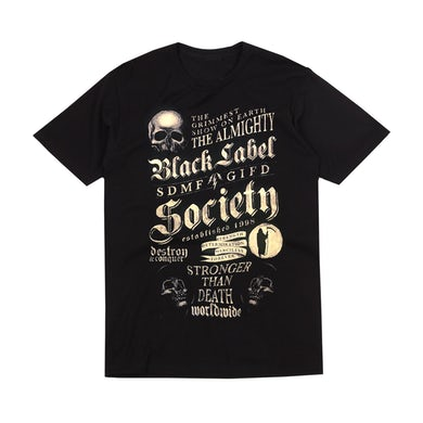 Black Label Society Chalkboard Design T