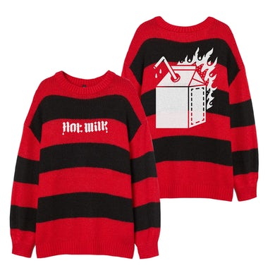 Hot Milk RED STRIPED KNITTED JUMPER