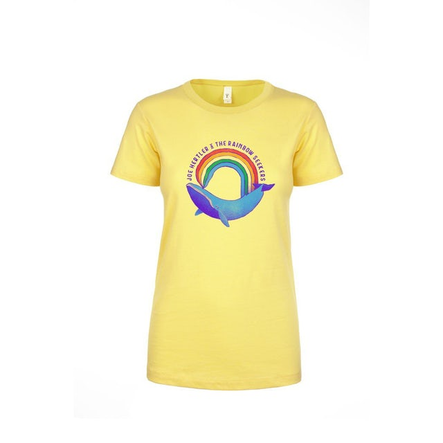 Joe Hertler & The Rainbow Seekers Rainbow Whale T-Shirt (Ladies Cut)