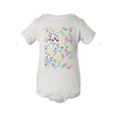 OK Go - Upside Down & Inside Out Collage Onesie