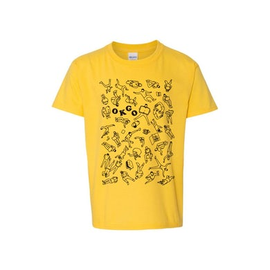 Ok Go Upside Down & Inside Out Collage Youth Tee (Yellow)