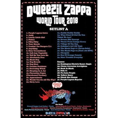 Dweezil Zappa - Choice Cuts 2018 Tour Poster (Setlist A)