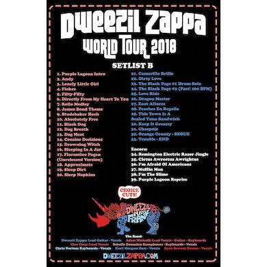 Dweezil Zappa - Choice Cuts 2018 Tour Poster (Setlist B)