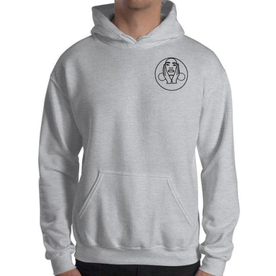 Hoop Earrings Logo Hoodie (Grey)