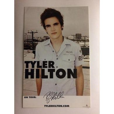 Tyler Hilton - Signed Vintage White Tour Poster