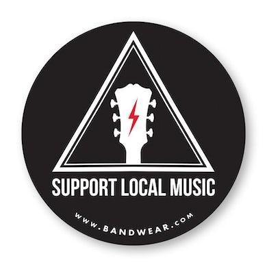Support Local Music - Warning Sign Logo Sticker