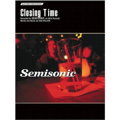 Semisonic - Closing Time Sheet Music Signed