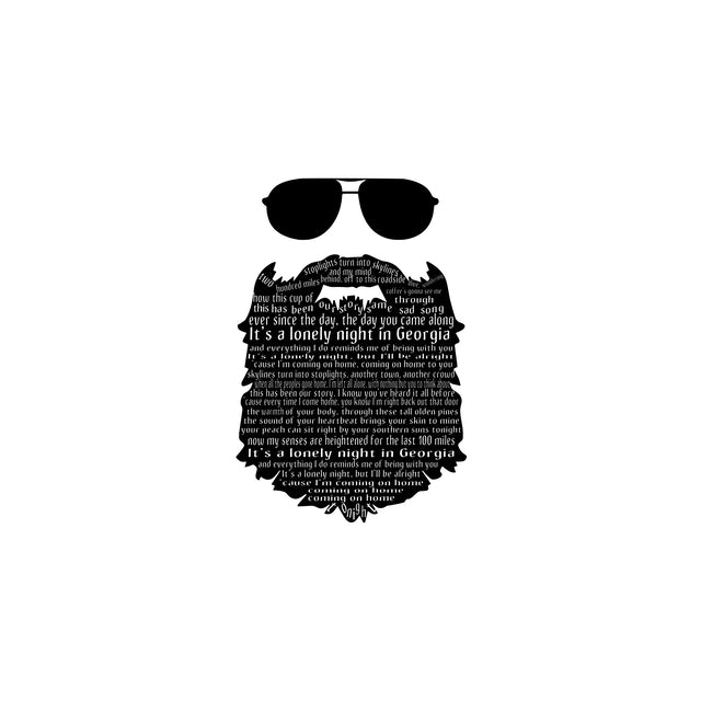 """Marc Broussard - """"Lonely Night In Georgia"""" Beard Lyric Tee"""