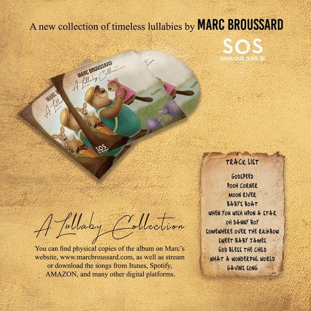 Marc Broussard - A Lullaby Collection CD + Signed Book Bundle