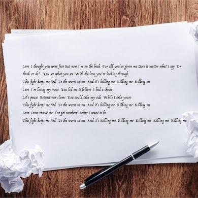 Tal Wilkenfeld - Autographed Killing Me Handwritten Lyric Sheet
