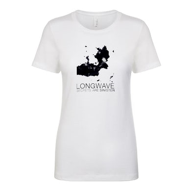 Longwave - Secrets Are Sinister Ladies Tee (White)