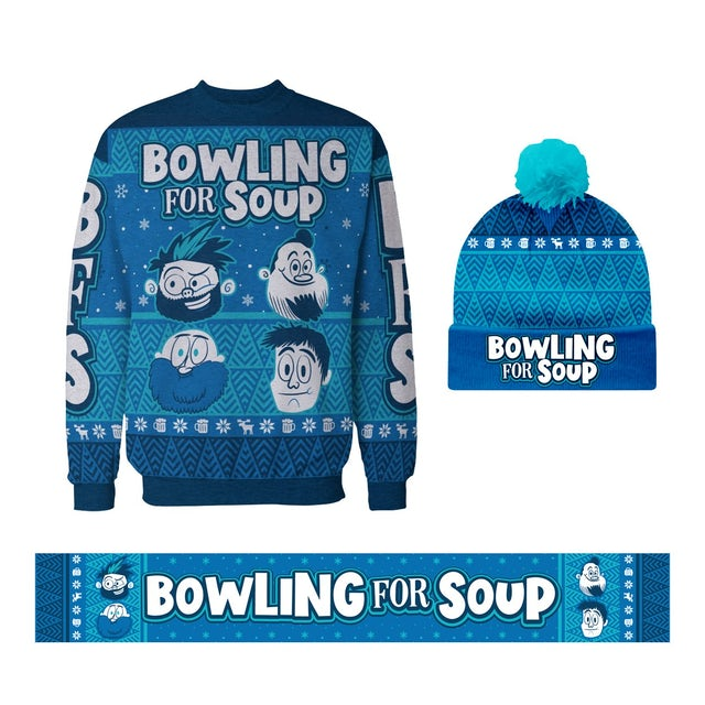 Bowling For Soup - Winter Beanie + Sweater + Scarf Bundle