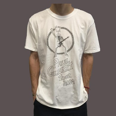 Paul Gilbert - White Drawing Tee
