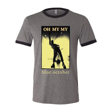 Blue October - Oh My My Ringer Tee (Grey)