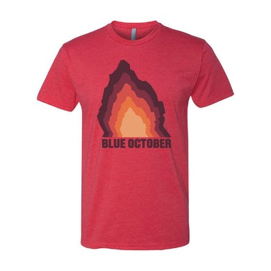 Blue October - Fear Rock Tee (Red)