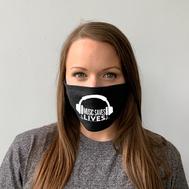 Support Local Music - Music Saves Lives Face Mask