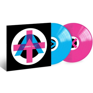 Tommy Lee - Autographed ANDRO Pink & Blue Split Color Vinyl
