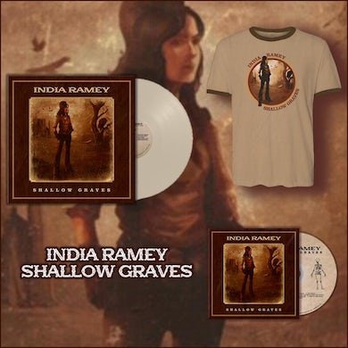 India Ramey - Signed Vinyl Signed CD and Ringer Tee Bundle