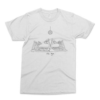 OK Go - Disco Treadmill Lo-Fi T-Shirt - White with Black