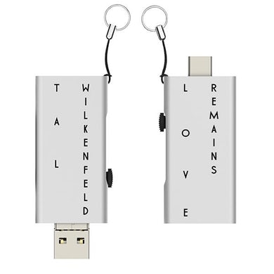 32GB Slide USB Flash Drive with 'Love Remains' FLAC Files