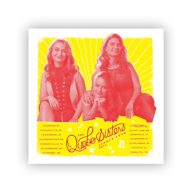 The Quebe Sisters - Summer Tour 2016 Poster