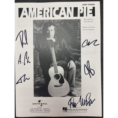 American Pie Autographed Sheet Music