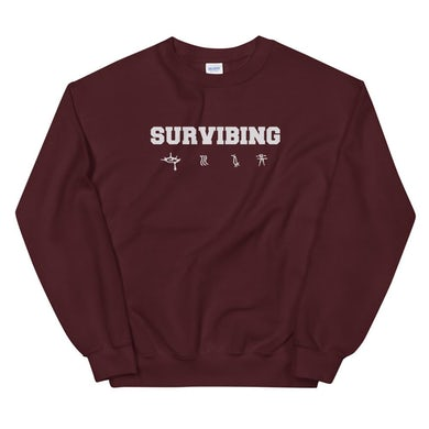 SUR - SURVIBING Sweatshirt (Maroon)