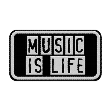 Support Local Music - Music Is Life Patch