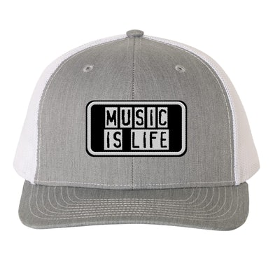 Support Local Music - Music Is Life Trucker Hat - Grey