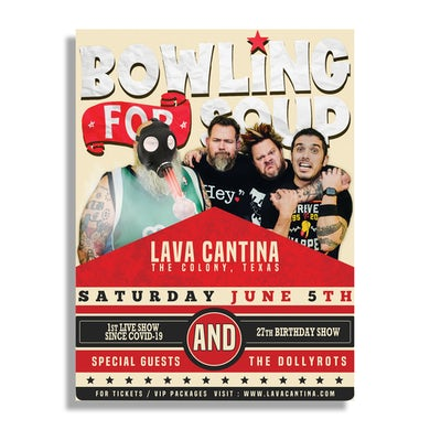 Autographed Lava Cantina 27th Birthday Show Poster (PRESALE 06/05/21)