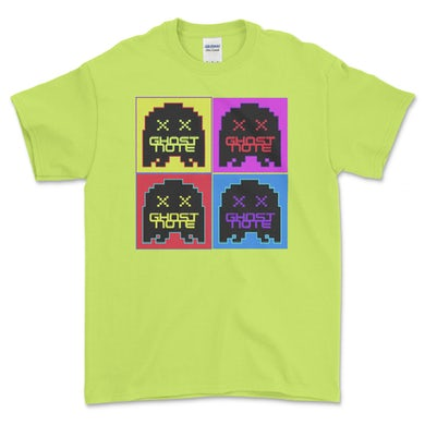 7 Color Quadrant Logo on Neon Safety Green Unisex Tee