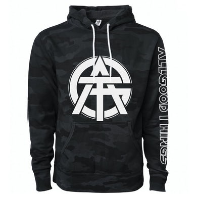 All Good Things - Black Camo Pullover Hoodie