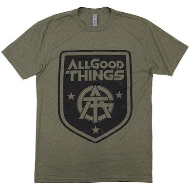 Military Green Crest Logo Tee