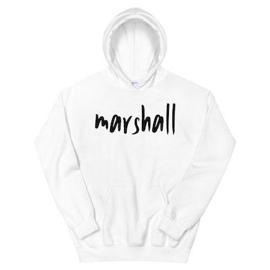 Marshall - White Logo Hoodie