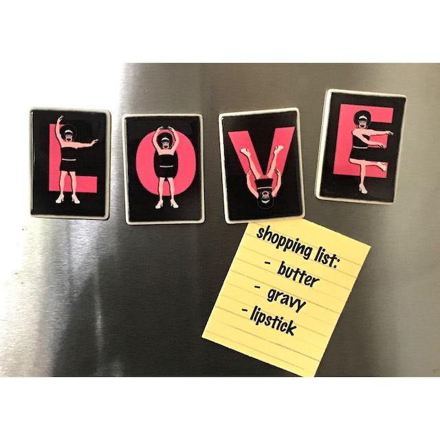 Miss Richfield 1981 - L-O-V-E Magnets (Set of 4)