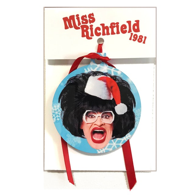 Miss Richfield 1981 - Santa Ornament