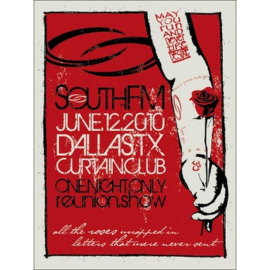 SouthFM - Limited Edition 06.12.10 Silk Screened Poster