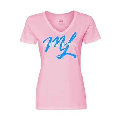 Ladies Script Logo Tee (Pink)