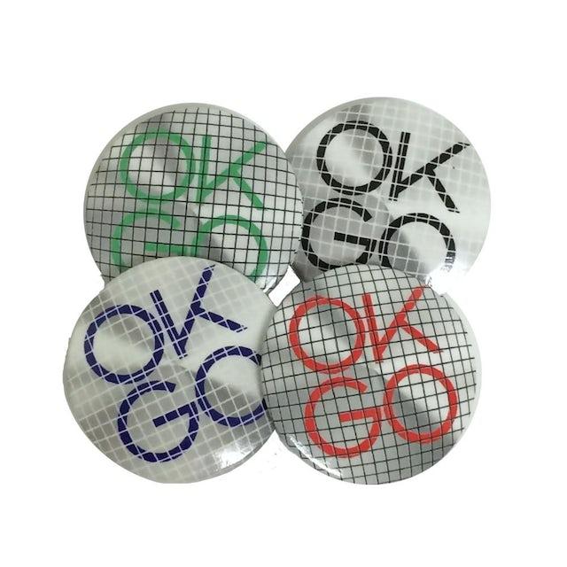 Ok Go Crosshatch Logo Button
