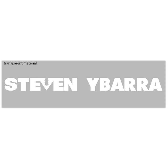 Steven Ybarra - Logo Sticker (Tranpsarent With White Letters)