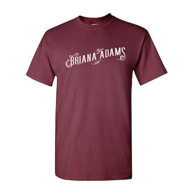 Briana Adams - Logo Tee (Maroon)