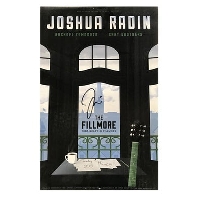 Joshua Radin - Live At The Fillmore Poster (Signed)