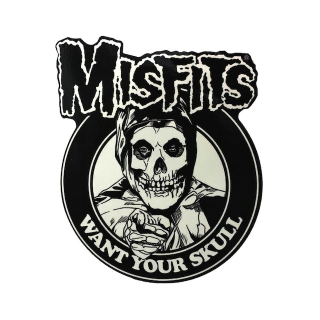 """The Misfits """"Want Your Skull"""" Sticker"""