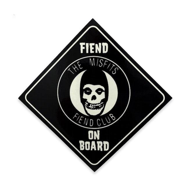 """The Misfits """"Fiend On Board"""" Sticker"""