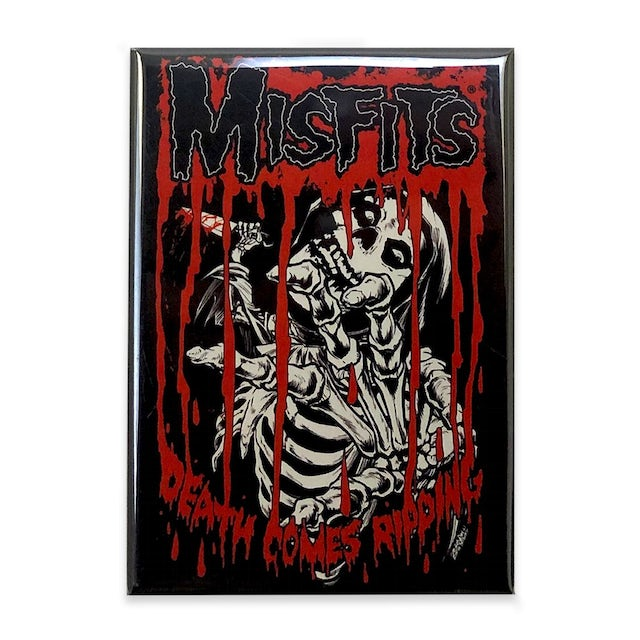 """The Misfits """"Death Comes Ripping"""" Magnet"""