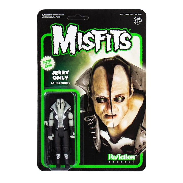 """""""Jerry Only"""" Glow-in-the-Dark Misfits 3.75"""" ReAction Figure"""