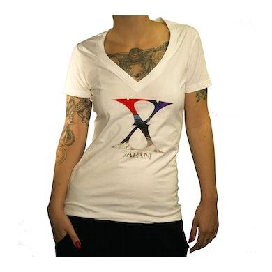 X Japan Ladies Logo V-Neck