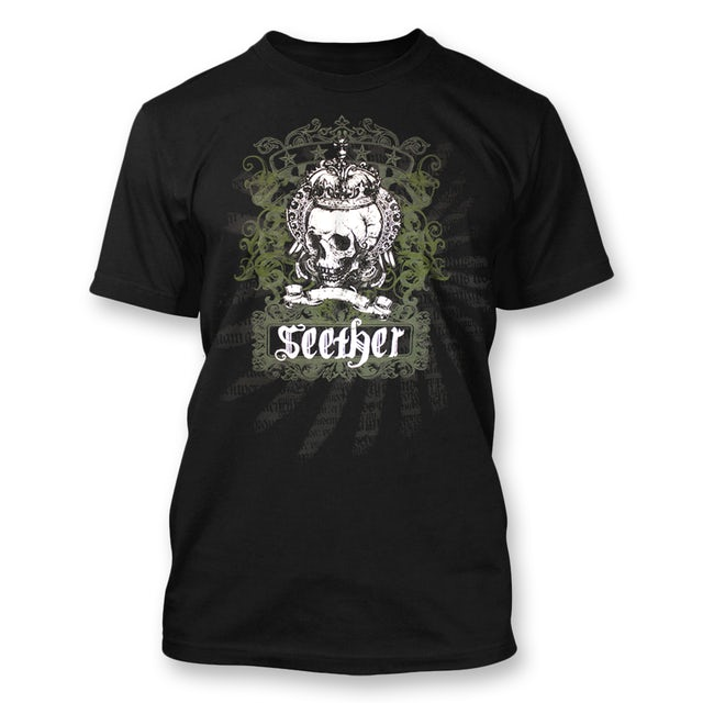 Seether Crown Skull Banner T-Shirt