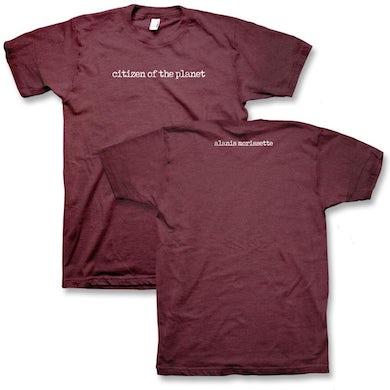 Alanis Morissette Citizen of the Planet T-Shirt (Burgundy)